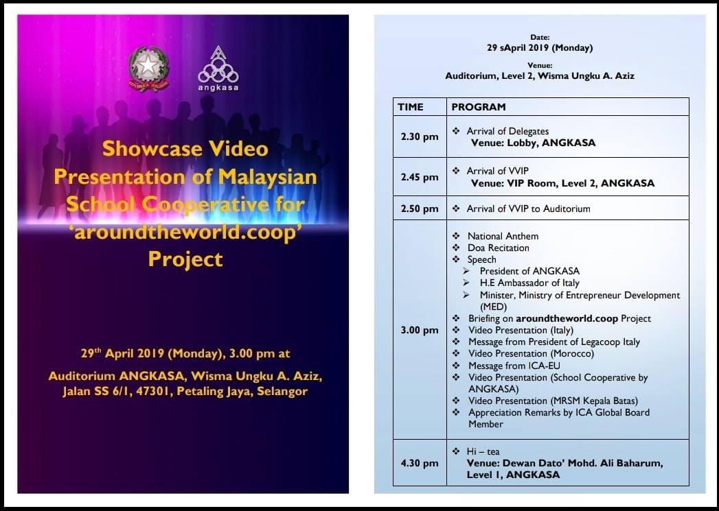Showcase video presentation of Malaysian School Cooperative