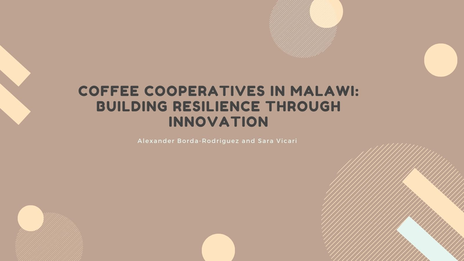Coffee cooperatives in Malawi: building resilience through innovation