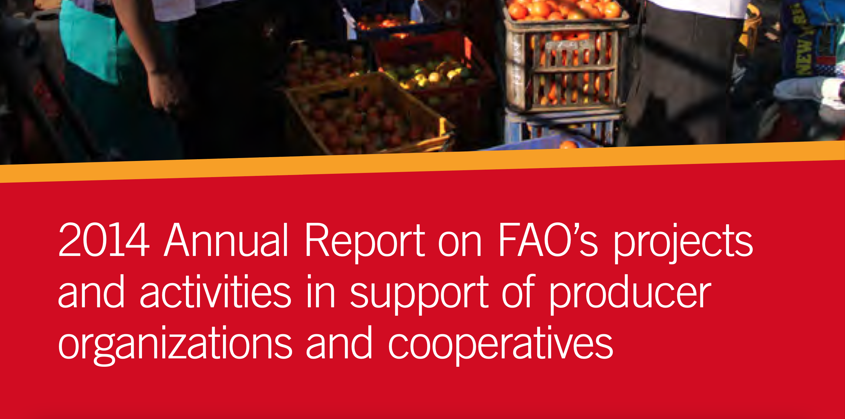 2014 Annual Report on FAO's projects and activities in support of producer organizations and cooperatives